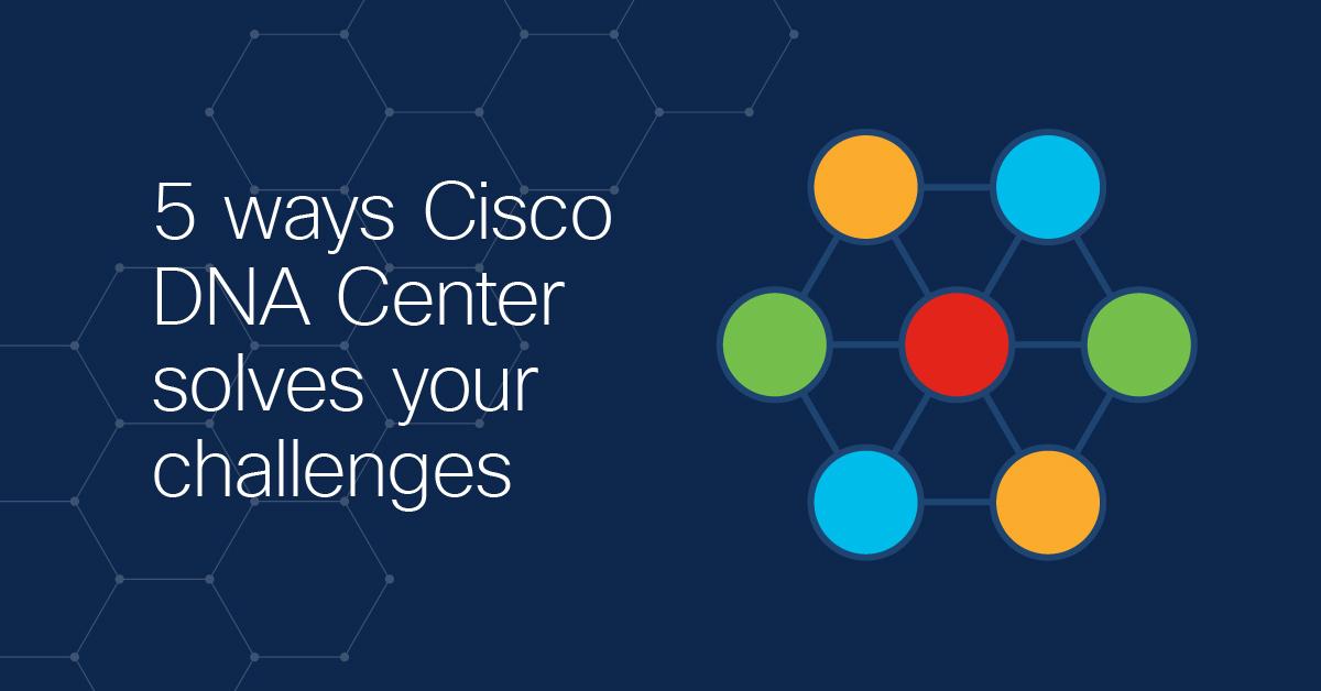 Cisco DNA Center 5 Ways Banner